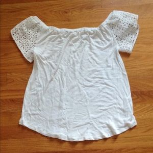 Merona White Off the Shoulder Shirt